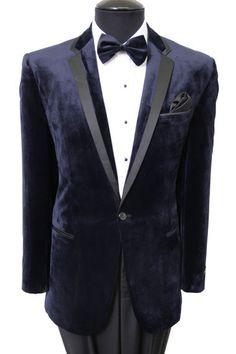 Men's Slim Fit Velour Velvet Suede Dinner Jacket One Button Sports Coat Blazer #Tazio #OneButton
