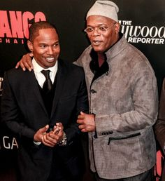 Jamie Foxx Samuel L. Jamie Samuel won the award Best WTF Moment on the MTV Movie Awards They played in the movie Django Unchained. Mo' Better Blues, Rickey Smiley, Quentin Tarantino Films, Samuel Jackson, Django Unchained, Avengers 1, Wtf Moments, Spike Lee, Mtv Movie Awards