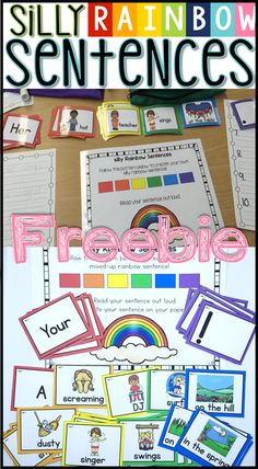 Silly Sentences writing freebie - first grade writing