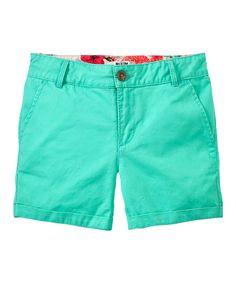 Jadite Twill Shorts