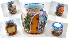 Hey, I found this really awesome Etsy listing at https://www.etsy.com/listing/173622427/delightful-polymer-clay-fairy-house