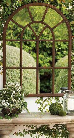 miroir de jardin et idée paysagiste