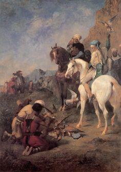La caza de la garza, Eugene Fromentin. En el año 961 moría Abderramán III dejando como legado un califato poderoso, rico, sólido y unido que heredaría su hijo Al-Hakam II, quien daría a al-Andalus una de las épocas de paz más largas jamás conocida.