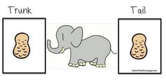 Trunk or tail game.  Mix initial and final cards together.  Children sort.  Addresses phonics and phonemic awareness in addition to basic articulation.