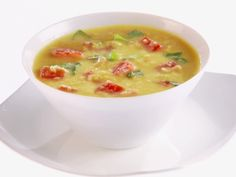 Corn and Tomato Soup Recipe : Giada De Laurentiis : Food Network - It was so easy and very yummy. Giada Recipes, Cooking Recipes, Healthy Recipes, Free Recipes, Kitchen Recipes, Healthy Foods, Cooking Tips, Tomato Soup Recipes, Giada De Laurentiis
