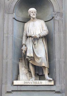 """""""Donatello"""".     (Born: c.1368. Died: 1466).          (Donato di Niccló di Betto Bardi)."""