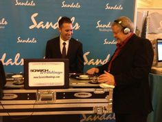 "The chairperson and founder of Sandals, Mr Gordon ""Butch"" Stewart mixing the official party tunes!"