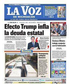 ¡Buenos días! Consulta nuestra edición impresa de La Voz de Michoacán de este miércoles 23 de noviembre: