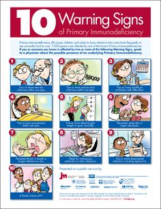 The 10 Warning Signs of Primary Immune Deficiency