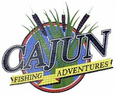 A logo for Cajun Fishing Adventures