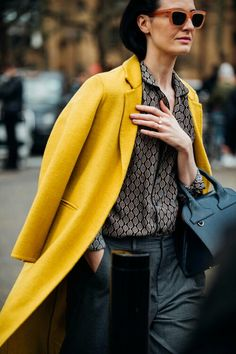 bright yellow coat - how to use color in your winter wardrobe