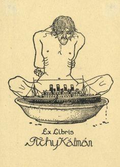 Ex libris Tichy Kálmán (ipse), 1916