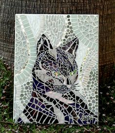 The Violet Cat by KikaMosaicDesign on Etsy