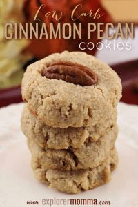 Quick and easy low carb cinnamon pecan cookies are the perfect keto snack! Grab tea and a gluten-free cookie yum! Quick and easy low carb cinnamon pecan cookies are the perfect keto snack! Grab tea and a gluten-free cookie yum! Keto Foods, Keto Diet Drinks, Diet Snacks, Ketogenic Foods, Diet Menu, Pecan Cookies, Keto Cookies, Cinnamon Cookies, Pecan Pies