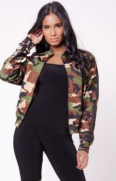 Load image into Gallery viewer, Maribel Zip Up Bomber Jacket - 5 Colors Womens Clothing Stores, Clothes For Women, Women's Clothing, Desi, Camouflage Leggings, Pantalon Costume, Suede Pants, Stylish Jackets, Club Outfits