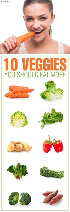 10 Veggies You Should Eat More #veggies #cleaneating #healthyrecipes