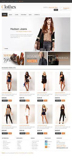 Kleding Webshop beginnen? Fraai ontwerp voor Jigoshop, deze template van http://www.zign.nl/