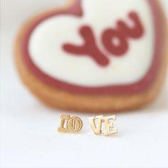 LO.VE. earrings by laonato on Etsy, $14.00