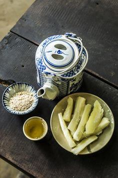 Cassava with tee, a traditional meal in Cu Chi Tunnel