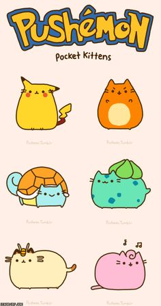 Pushemon. PIKACHU  AND PUSHEEN?!
