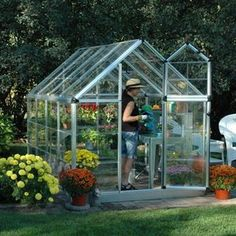 Palram Snap & Grow 6 x 8 ft. Greenhouse  #WalmartGreen GARDENING IS NOT JUST FOR FLOWERS ANYMORE- ITS FOR FOOD- HERBS, VEGETABLES, FRUITS- AND A GREENHOUSE HELPS US YEAR ROUND