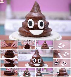 How to Make Poop Emoji Cake