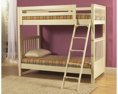 Meadowbrook White Bunk/loft Bed Ends 3/3