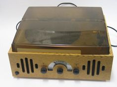 Wooden Radio/Record Player on eHive Radio Record Player, Electric Company, Gadgets, Objects, Gadget