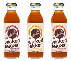 Go there. Wicked Lekker gives you a taste of South African rooibos tea, a  beverage that's been drunk there for centuries for its antioxidant power  and healing properties.