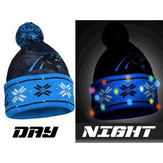Carolina Panthers NFL Big Logo Light Up Printed Beanie