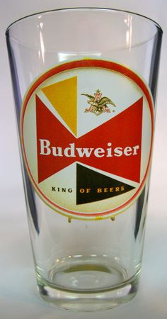 Budweiser retro pint glass (1956-1958) — Pint Keep