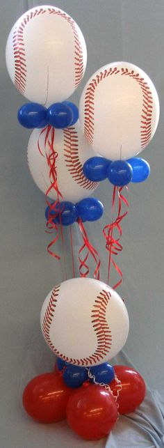 Baseball Baby Shower Supplies | Baseball Bubble Stack | Baseball Baby Shower Ideas for Brittany