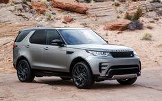 Lataa kuva Land Rover Discovery, HSE, 2017, Si6, Dynaaminen Muotoilu Pack, MAASTOAUTO, hopea, British autot, tuning Löytö, Land Rover