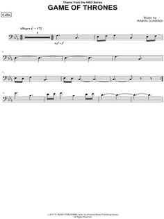 game of thrones cello chords