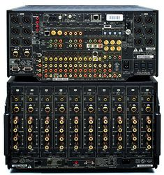Denon Surround Processor and Amplifier Home Theater Sound System, Home Theatre Sound, At Home Movie Theater, Home Theater Setup, Best Home Theater Receiver, Yamaha Audio, Surround Speakers, Hi Fi System, Audio Sound
