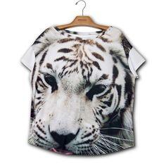 Camiseta Quadrada Tigre Branco www.usenatureza.com #UseNatureza #JeffersonKulig
