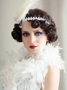 ... Embrace Your Inner Flapper #hair #vintage #style #curls #bob #haircut