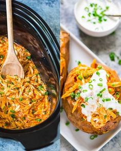 Slow Cooker Buffalo Chicken Potato – With slow-digesting, belly-flattening sweet potatoes, protein-packed chicken and calorie-scorching hot sauce, this recipe is weight loss Godsend. And don't even think about skipping the Greek yogurt topping because according to research those who consume yogurt as part of their diet lost 22 percent more weight & an incredible 81% more belly fat than their fellow calorie calorie cutters. Get the recipe from Well Plated.