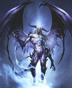 네임드 angel or demon, fantasy art, purgatory в 2019 г. Dark Fantasy Art, Fantasy Kunst, Fantasy Artwork, Dark Art, Demon Artwork, Fantasy Monster, Monster Art, Fantasy Character Design, Character Art