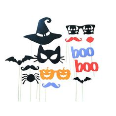 13pcs DIY Photo Booth Props with sticks Halloween Party taking photo selfie props supply drop shipping