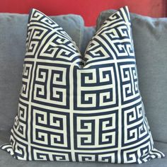 Free Shipping  ON BOTH SIDES  Pillow Cover  by UrbanPillow on Etsy, $18.00 GREEK KEY!