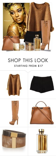 """""""Untitled #10"""" by bosnjakovic001 ❤ liked on Polyvore featuring L'Agence, Christian Louboutin, Fendi, Isabel Marant, Prada and Burberry"""