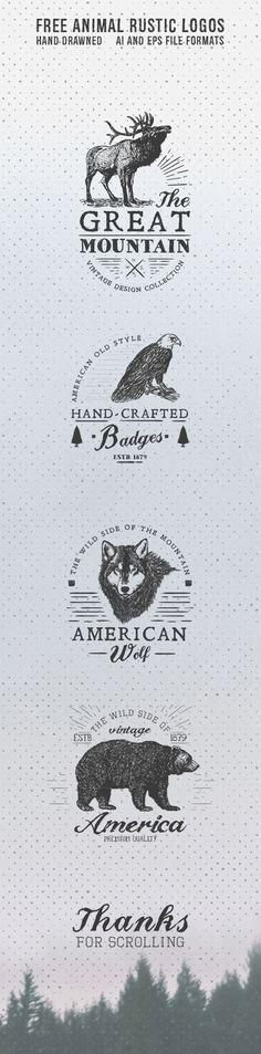Free Animal rustic Logos on Behance