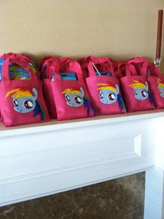 My Little Pony Goody Bags Rainbow Dash by theRADandLOVELIES, $3.00