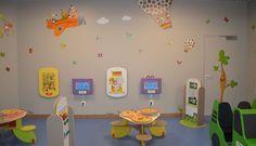 Galeries marchandes. #espaces #coin #aménagement #enfant #stickers #table #jeux muraux #galeries #marchandes