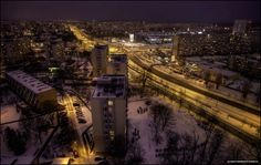 Przymorze nocą / #Przymorze District by #night   #Gdansk #View