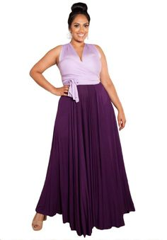 Amazon.com: Sealed With A Kiss Designs Plus Size Eternity Convertible Maxi Dress (Sweet Duo) - Size 2X, Lavendergrape: Clothing