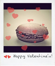 Happy Valentine's - Macaron greetings card