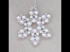Christmas Snowflake Wire and Bead Ornament