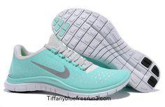 Tiffany Blue Nike Free 3.0 V4 Women's Blue White Silver 511495 300